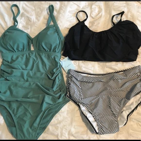 91c192f321e3a Cupshe Swim | Bundle Two Nwt Suits S | Poshmark